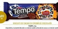 Biscuiti de cacao cu crema de ciocolata Tempo