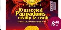 Snack-uri indiene Pappadums Patak's