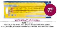 Creion grafit HB cu guma Care