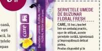 Servetele umede de buzunar Floral Fresh Care