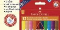 Creioane plastic triunghiulare Faber-Castell