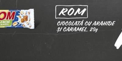 Ciocolata cu arahide si caramel Rom