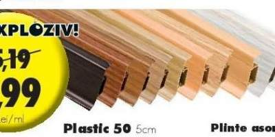 Plinta Plastic cu canal dublu 50 5 centimetri