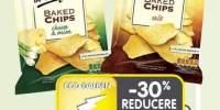 Chips rumeniti in cuptor sare/branza si ceapa/paprika Lay's