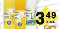 Bautura carbogazoasa cu aroma de lamaie si lime/ cu aroma de lamaie si soc/ cu suc de portocale 365
