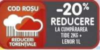 20% reducere la cumpararea Tide + Lenor!