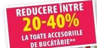 Reduceri intre 20-40% la toate articolele de bucatarie