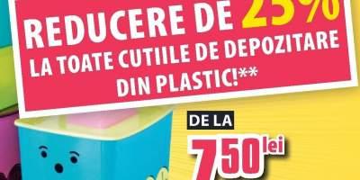 Reducere de la 25% la toate cutiile de depozitare din plastic!