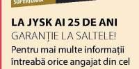 La JYSK ai 25 de ani garantie la saltele!