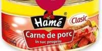 Carne de porc in suc propriu, Hame