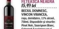 Vin rosu, demidulce Feteasca Neagra Cotesti
