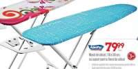 Masa de calcat 110x130 centimetri cu suport pentru fierul de calcat AquaPur