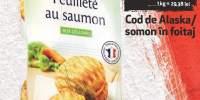 Cod de Alaska/ somon in foietaj Duc De Coeur