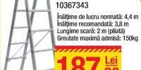 Scara din aluminiu  2 tronsoane x 7 trepte
