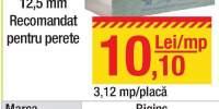 Gipscarton Rigips 3.12 metri patrati