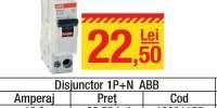 Disjunctor 1P + N ABB