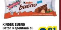 Baton napolitana cu crema Kinder Bueno