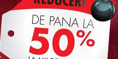 Reduceri de pana la 50% la mii de produse