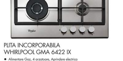 Plita incorporabila Whirlpool GMA 6422 IX