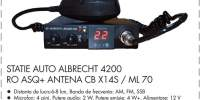 Statie auto Albrecht 4200 RO ASQ+antena CB X145/ML 70