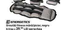 Greutati fitness mana/picior, negru Energetics