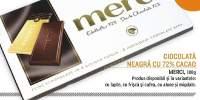 Ciocolata neagra cu 72% Cacao, Merci