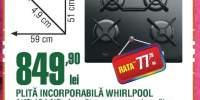 Plita incorporabila Whirlpool AKT 424 NB