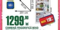 Combina frigorifica Beko DBK 386 WD+