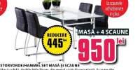 Masa Storvorde  + 4 scaune negre Hammel