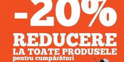 20% reducere la toate produsele!