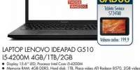 Laptop Lenovo Ideapad G510 I4-4200M 4GB/1TB/2GB
