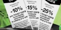 Reduceri prin tichetele Cora intre 10-25%!