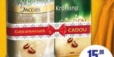 Cafea macinata Jacobs Kronung 500 grame + cutie Cadou