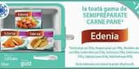 15% reducere la toata gama de semipreparate carne pane Edenia