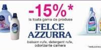 15% reducere la gama de produse Felce Azzurra