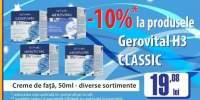 10% reducere la produsele Gerovital H3 Classic