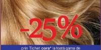 25% reducere la toata gama de vopsea de par!