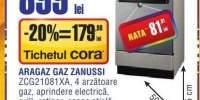 Aragaz gaz Zanussi ZCG21081XA