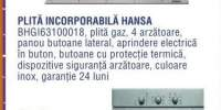 Set incorporabil Hansa: plita BHGI63100018 + cuptor BOEI64010030