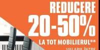 Zilele mobilierului reducere 20-50% la tot mobilierul