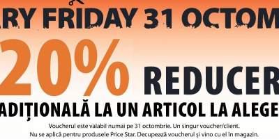 Scary Friday 31 octombriw 20% reducere aditionala la un articol la alegere
