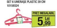 Set 6 umerase plastic 39 centimetri