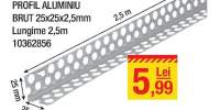 Profil aluminiu brut