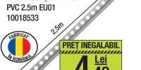 Profil colt exterior PVC 2.5 metri EU01