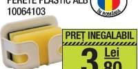 Suport burete fix perete plastic alb