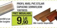Profil nivel PVC stejar capucino