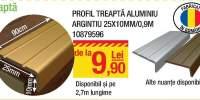 Profil treapta aluminiu argintiu