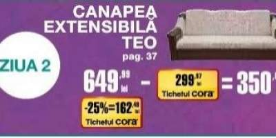 Canapea extensibila Teo