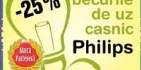 25% la becurile de uz casnic Philips
