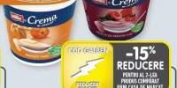 Muller iaurt crema cu piure de piersici/fructe de padure